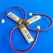 3 pcs 3.7V 110mAh Li po Battery 401030 JST 1.5mm Cells for MP3 Headset Recorder