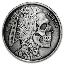 1 oz Silver Antique Round - United Snakes Series (Indian Skull) - SKU #116139