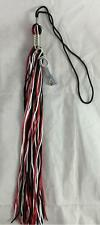 "NEW Black White & Red Class 2014 Charm Graduation Tassel 9"" Jostens"