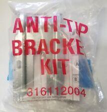 """New Frigidaire Range Anti-tip Bracket W Screws 5"""" x 2"""" 316112005 316112004"""