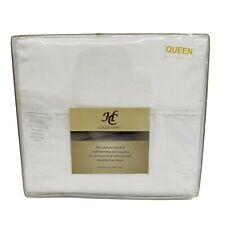NEW Hotel Collection Platinum 1800 Collection White Queen Size Bed Sheet Set