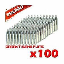 LOT 100 SPARCLETTES SPARCLETTE GAZ CO2 CAPSULE CARTOUCHES AIRSOFT PAINTBALL NEUF