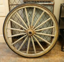 """Antique Primitive 40"""" Wagon Wheel with 16 Spokes All Intact"""