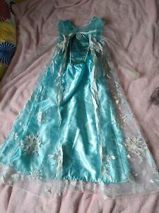 Disney Frozen Elsa Dress Up Age 5-6 Years GUC Fancy Costume