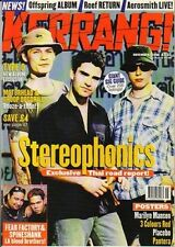 Stereophonics on Kerrang Cover 1998      Marilyn Manson  3 Colours Red  Placebo