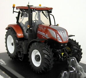 UH 1/32 Scale - 5376 New Holland T7.225 Terracotta Diecast model Farm Tractor