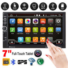 "7"" HD Double 2DIN GPS Nav Car Stereo MP3 MP5 Bluetooth Touch FM Radio USB/TF/AUX"