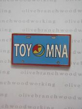 "Disney Toy Story Midway Mania BLUE ""TOY MNA"" Attraction License Plate Frame Pin"