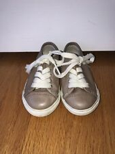 Frye Childrens Shoes Size 5 Brown With White Laces