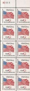 US Stamp 1994 32c American Flag G Rate Booklet Pane of 10 Stamps #2885a
