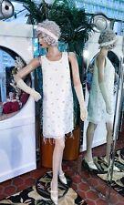 1920s DRESS FLAPPER Modern Millie GATSBY SPEAK EASY JEWEL FEATHER FRINGE S/M