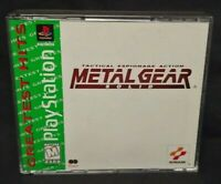 Metal Gear Solid - Playstation 1 2 PS1 PS2 Game Rare Works! Near Mint Discs