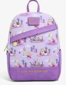 """Disney Tangled Exclusive Loungefly Mini Backpack """"Live Your Dreams"""