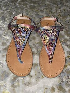 ZIGISoho Women's Sandals with Rhinestones Size 6