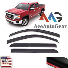 For 2014-2018 GMC Sierra Chevy Silverado 1500 Extended Cab Window Visor Guard