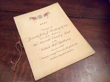 Orig 1919 Post WWI Dinner Menu for General Pershing Louisville KY Seelbach Hotel