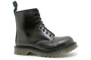 Solovair Made in England 8 Eye Black Steelcap Boot Ben S117-CS81551BBK