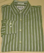 RUEHL 925 Long Sleeve Casual Dress Shirt L - Green Stripe - Abercrombie Fitch