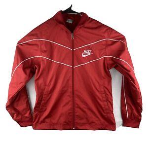 VTG Nike Mens S Jacket Gray Tag Retro Style Red Track Full Zip Y2K