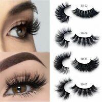 3D Natural Mink Lashes Long False Eyelashes Volume Fake Lashes Makeup Extension