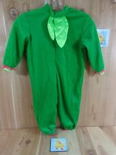 LITTLE FLOWER Costume Infant 9-12 Mo Green Bodysuit Pink Lace Halloween