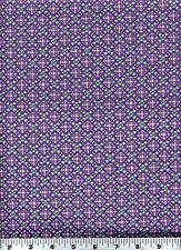 Fabric #2019 Deco Pink Green Purple Dotted Grid Jason Yenter, Sold by 1/2 Yard