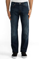 NWT 7 FOR ALL MANKIND JEANS $198 STANDARD CLASSIC STRAIGHT IN COLD SPRINGS SZ 31