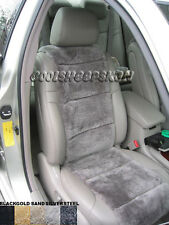 LUXURIOUS Australian Sheepskin  Steel color Insert Seat Cover A Pair