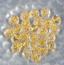 10 facettes de Bohème rondes rose bud 5/6 mm crystal gold lined