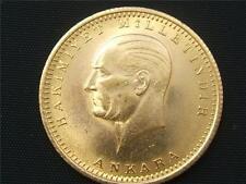 RARE 100 Piasrers Kemal Ataturk 22k. Gold Coin 1923-46