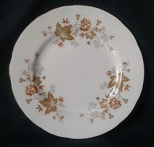 COLCLOUGH AVON SIDE PLATE FINE BONE CHINA SIDEPLATE GREY FLOWERS & BROWN LEAVES