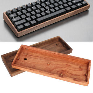 GH60 64 Wooden Case Wrist Rest PCB Plate For 60% 64 Mini Mechanical Keyboard