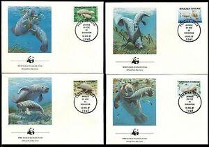 Togo 1984 WWF, FDC, Manatee, Seal, Marine Life