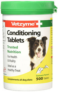 Vetzyme Conditioning Pack of 500 Suitable for puppies and dogs