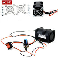 16000RPM ACE40 1.4A Turbo supercharger Boost Intake Fan + Switch Potentiometer