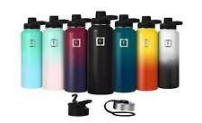 Iron Flask Sport Water Bottle Hydro Vacuum Insulated Stainless Steel Spout Lid