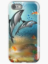 New listing Dolphin Porpoise Fish Ocean Sea Tough Durable Protective Case for iPhone 7 8 Se