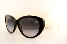 Brand New Swarovski Sunglasses SK 0053 05B Black White/Grey Gradient Women