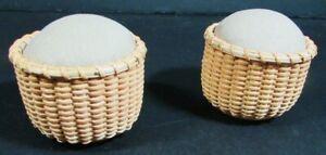 6x Needlecraft Supplies  Nantucket Pincushions & Basket/Wood&Ceramic Bowls-ZW12