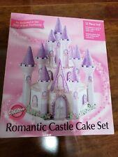 New In Opened Box 2008 Wilton Romantic Castle Cake 32 Piece Set 301-910