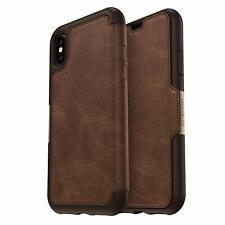 Otterbox Strada Leather Folio Wallet Case for iPhone X / XS - Espresso Brown
