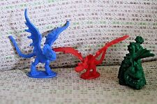 """How to Train Your Dragon 1.75"""" Mini Blue Nadder Nightmare Gronckle Toy Figures"""