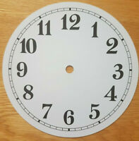 NEW - 7 Inch Clock Dial Face - White - 177mm Arabic Numerals - DL192