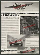 Duralumin Zeppelin LZ 129 Auto-Union Silberpfeil Junkers Ju 86 Düren Metall 1936
