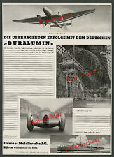 Duralumin Zeppelin LZ 129 Auto Union Argento Freccia Junkers Ju 86 edecisiva metallo 1936