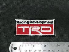 TOYOTA TRD RACING DEVELOPMENT LOGO CAR BIKER FORMULA WHITE PATCH - MADE IN USA