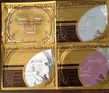 12 Pieces, 4 Kinds, Gold /Red Wine /pearl /HA Collagen Face Facial Masks 05/2018