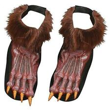 Werewolf Brown Shoe covers ~ Paws ~ Wolf feet   ~ one size ~ Halloween