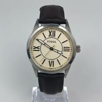 FOSSIL Leather Strap Mens Watch BQ1137