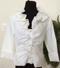 NWT Xscape By Joanna Chen Ivory Occasion Evening Blouse Top Sz 16 Retail $89.00.